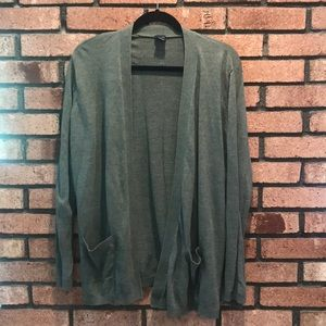 Gap Open front green olive cardigan
